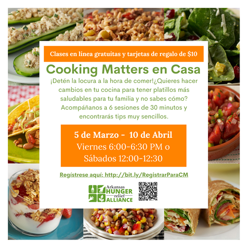 image cooking matter en casa flyer