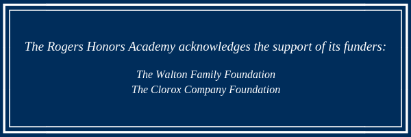 Thank you to the Walton Family Foundation and The Clorax Company Foundation for their support.